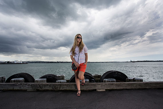 Taken near Auckland Harbour, New Zealand. Model: Danielle Duggan.